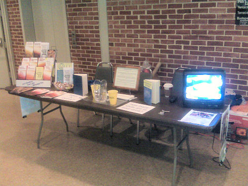 Image: PI materials on exhibit at county health fair